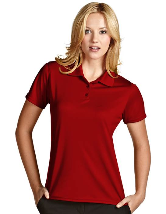 100222 - Women's Exceed Dark Red (Womens Shirts Polo)