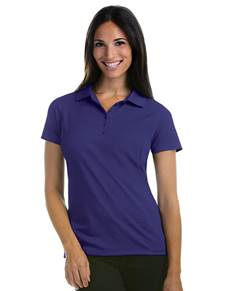100414 - Women's Pique Xtra-lite Dark Purple (Womens Shirts Polo)
