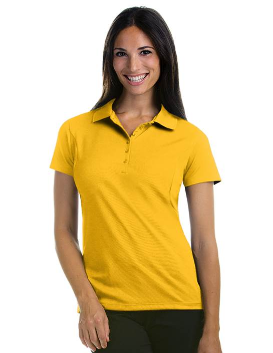 100414 - Women's Pique Xtra-lite Gold (Womens Shirts Polo)