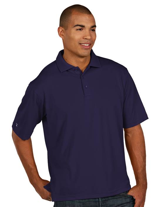 100425 - Pique Xtra Lite Dark Purple (Mens Shirts Polo)