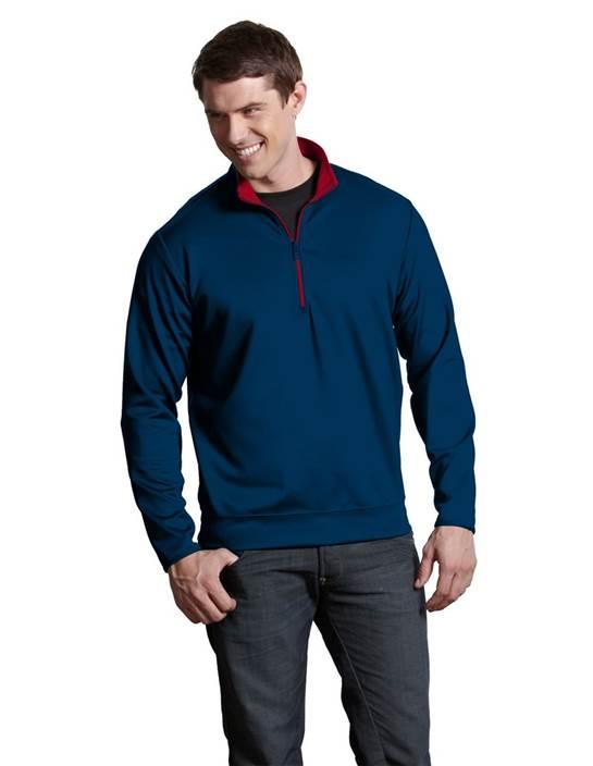 100607 - Leader Pullover Navy/Dark Red (Mens Outerwear Pullover)