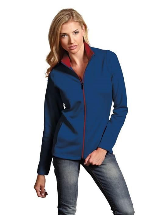 100695-874 - Women's Leader Jacket Navy/Dark Red (Womens Outerwear Jacket)