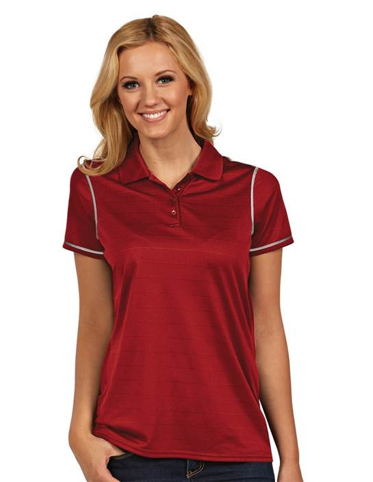 100786 - Women's Icon Dark Red/White (Womens Shirts Polo)