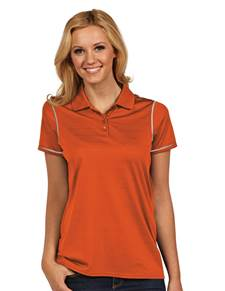 100786 - Women's Icon Mango/White (Womens Shirts Polo)
