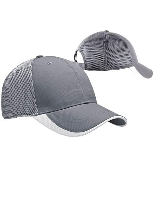 100819 - Fairway Hat Steel/White (Unisex Hats Adjustable)