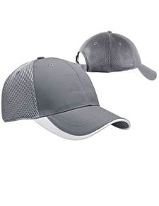 100819 - Fairway Hat Steel/White (Unisex Hats Adjustable)