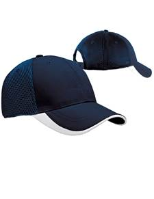 100819 - Fairway Hat Navy/White (Unisex Hats Adjustable)
