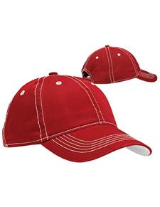 100822 - Par Hat Dark Red/White (Unisex Hats Adjustable)