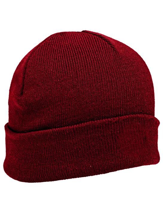 100826 - Brisk Beanie Dark Red (Unisex Hats Beanie)