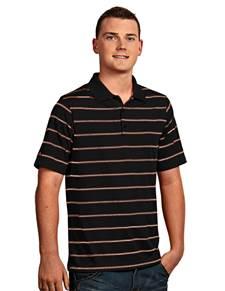 100874-795 - Deluxe Black/Mango/White (Mens Shirts Polo)