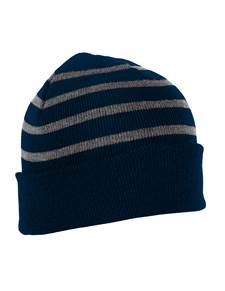 101179 - Crisp Navy/Charcoal Heather (Unisex Hats Beanie)