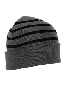 101179 - Crisp Charcoal Heather/Black (Unisex Hats Beanie)