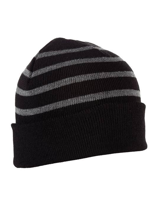 101179 - Crisp Black/Charcoal Heather (Unisex Hats Beanie)