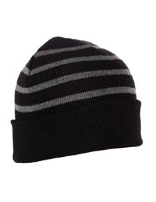 101179 - Crisp Black/Charcoal Heather (Unisex Hats Beanie)