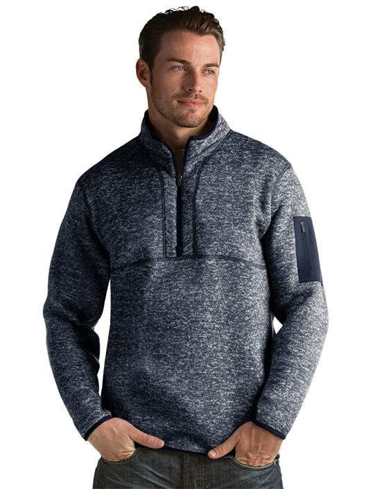 101184 - Fortune Navy Heather (Mens Outerwear Pullover)