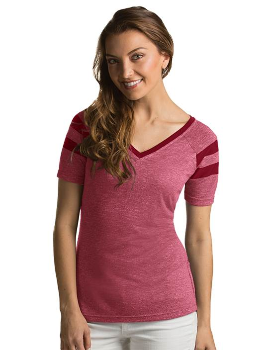 101187-728 - W's Assist Cabernet Heather (Womens Shirts Tee)