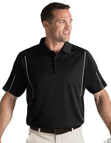 101223 - Contact Black/White (Mens Shirts Polo)