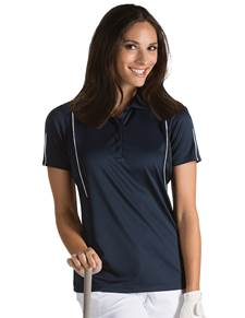 101224 - Women's Contact Navy/White (Womens Shirts Polo)