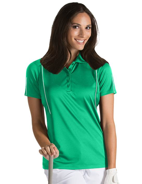101224 - Women's Contact Dark Mint/White (Womens Shirts Polo)