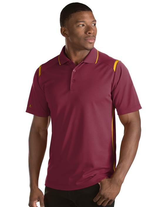 101298-308 - Merit - SALE Cabernet/F S U Gold (Mens Shirts Polo)
