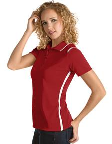 101299 - Women's Merit Dark Red/White (Womens Shirts Polo)