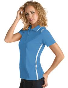 101299 - Women's Merit Columbia Blue/White (Womens Shirts Polo)