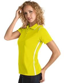 101299-586 - Merit Women's - SALE Yellow/White (Womens Shirts Polo)