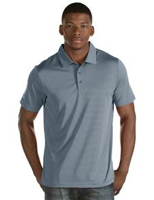 101302 - Quest Steel/White (Mens Shirts Polo)