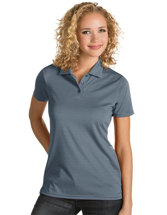101303 - Women's Quest Steel/White (Womens Shirts Polo)