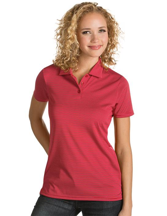 101303 - Women's Quest Dark Red/White (Womens Shirts Polo)