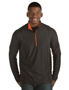 101304-673 - Tempo - Closeout Colors Black/Mango (Mens Outerwear Pullover)
