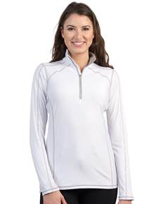 101305 - Women's Tempo White/Silver (Womens Outerwear Pullover)