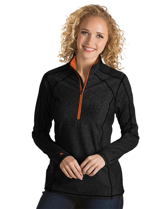101305 - Women's Tempo Black/Mango (Womens Outerwear Pullover)