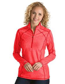 101305-990 - Tempo Women's - Closeout Colors Bright Red Heather (Womens Outerwear Pullover)