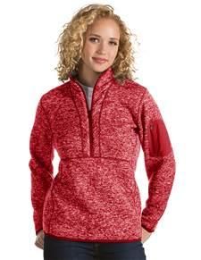 101306 - Women's Fortune Dark Red Heather (Womens Outerwear Pullover)