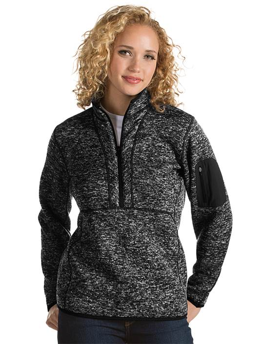 101306 - Women's Fortune Black Heather (Womens Outerwear Pullover)
