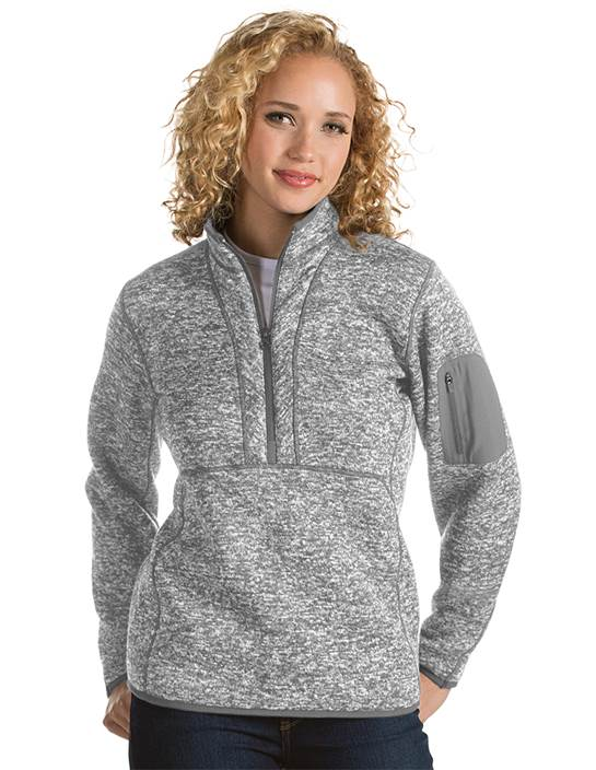 101306 - Women's Fortune Light Grey Heather (Womens Outerwear Pullover)