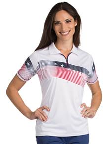 101311 - Women's Patriot White/Navy/Dark Red (Womens Shirts Polo)
