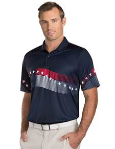 101312 - Patriot Navy/Dark Red/White (Mens Shirts Polo)
