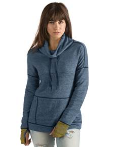104005 - Women's Snap Navy Heather/Gold (Womens Outerwear Pullover)