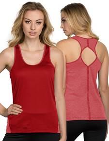 104047 - Women's Fly Dark Red/Light Grey (Womens Shirts Polo)