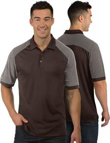 104106 - Engage Brown/White (Mens Shirts Polo)