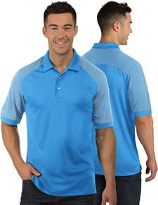 104106 - Engage Columbia Blue/White (Mens Shirts Polo)