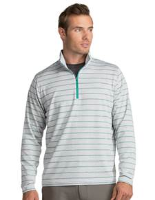 104109-755 - Stratus Grey Heather/Spearmint/Iris (Mens Outerwear Pullover)