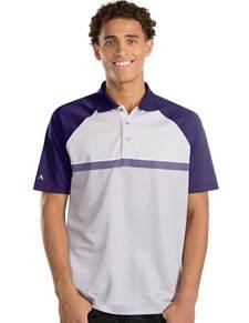 104119 - Momentum Dark Purple/White/Light Grey Heather (Mens Shirts Polo)