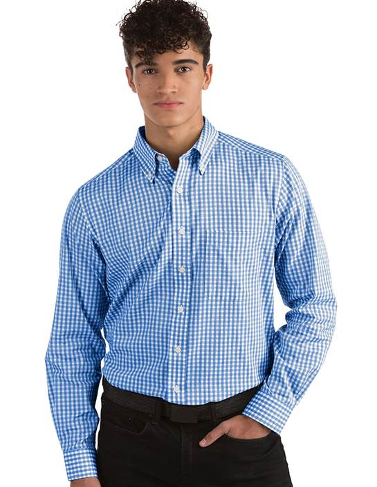 104124-347 - Rank Dark Royal/White (Mens Shirts DressShirt)