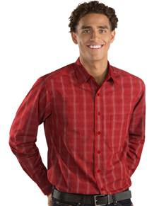 104125 - Agent Dark Red/White (Mens Shirts DressShirt)