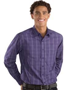 104125 - Agent Dark Purple/White (Mens Shirts DressShirt)