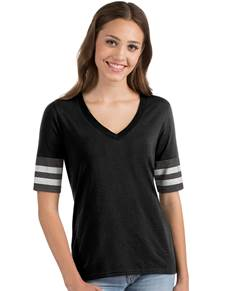 104129 - Women's Vex Black/Charcoal Heather/Silver (Womens Shirts Tee)
