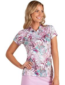 104143 - Women's Tahiti Sand Dollar/Rosewood Multi (Womens Shirts Polo)